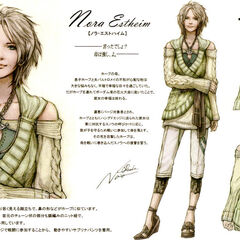 Character design of Nora Estheim from <i>Final Fantasy XIII</i>.
