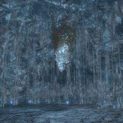 Perdra de Menphina em <i>Final Fantasy XIV</i>.