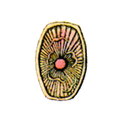 Concept art of Flame Shield from <i>Final Fantasy</i>.