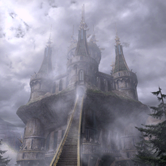 Ipsen's Castle covered in Mist.