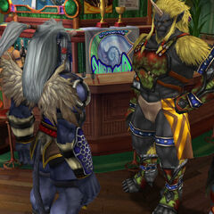 Kimahri meets Biran and Yenke in Luca.