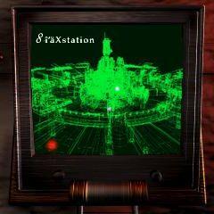 Holographic model of Midgar, 1/10000 scale, seen in <i>Final Fantasy VII</i>.