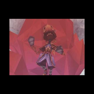 Crystallized Yuke in <i>Ring of Fates</i>.