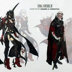 Concept artwork of Aranea (left) and Verstael (right).
