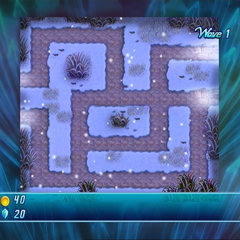Orchise Snowfields in <i>Crystal Defenders W1</i>.