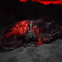 Noel with a behemoth he hunted.
