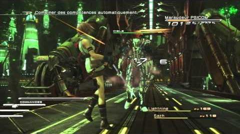 Final Fantasy XIII Combat contre Maraudeur PSICOM