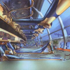 Concept art of the interior.