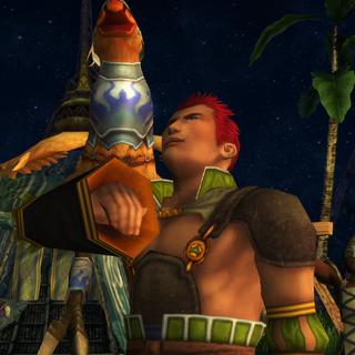 Luzzu mira las estrellas.