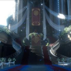Силлецветы на полу тронного зала Цитадели.
