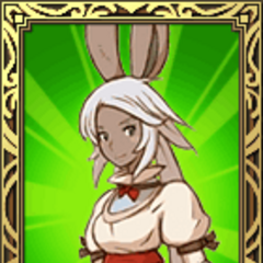 Viera White Mage portrait in <i>Final Fantasy Tactics S</i>.