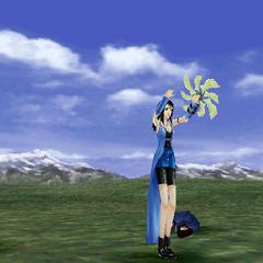 Rinoa's victory pose.