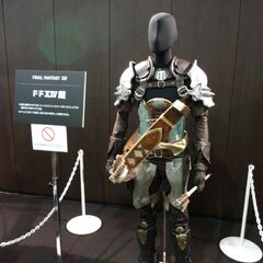 Full to-scale replica of the Warrior of Light's armor.