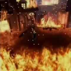 Горящий Нибельхейм в <i>Before Crisis -Final Fantasy VII-</i>.