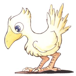 Изображение чокобо работы Казуко Сибуя в версии <i>Final Fantasy IV</i> для SNES.