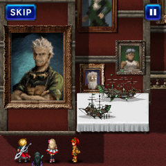 Cid's portrait at the Mobreeze Airship Factory.