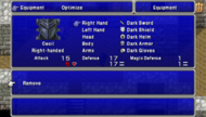FFIV PSP Equipment Menu