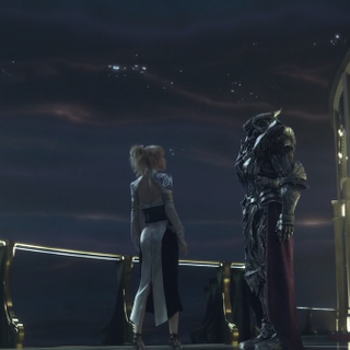 Lunafreya and Glauca in <i>Kingsglaive</i>.