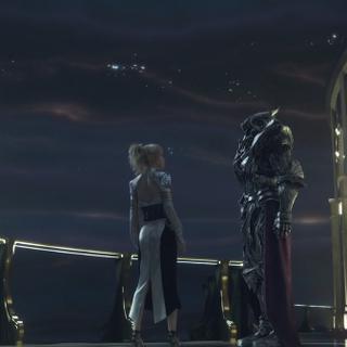 Лунафрейя и Главка в <i>Kingsglaive</i>.