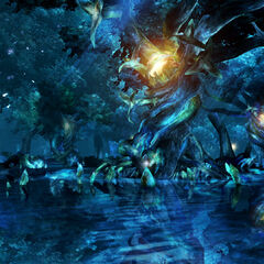 Macalania pond in <i>Final Fantasy X</i>.