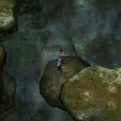 Traveling the Mushroom Rock Road in <i>Final Fantasy X-2</i>.