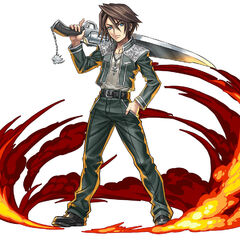 Squall's SeeD cadet uniform in <i>Puzzle & Dragon</i>.