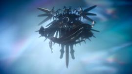 Bahamut poses like the Kingsglaive logo in FFXV Episode Ardyn