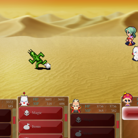 Сражение с Кактуаром в версии игры для <a href=