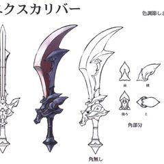 Arte alternativa da Excalibur em <i>Final Fantasy IX</i>.