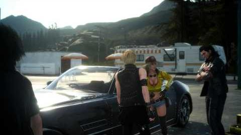"Final Fantasy XV Episode Duscae - Wheeling & Dealing Pay Cindy for Regalia ""For Cid"" Chat Cutscene"