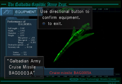 Galbadian Army Cruise Missile BAG0003A from FFVIII Remastered