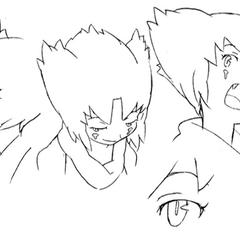 Closeup concept lines.