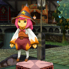 Orange Magic Hat in <i>Final Fantasy Crystal Chronicles: Ring of Fates</i>.