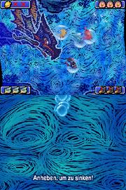 Kapriolen unter Wasser Gameplay