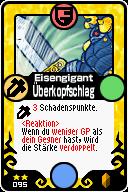 095 Eisengigant Überkopfschlag Pop-Up