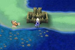 Burg Eblan auf der Weltkarte FFIV iOS
