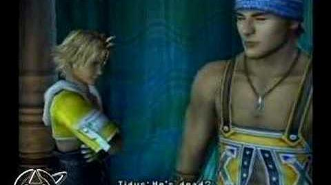 Lulu speaks to Wakka on Besaid