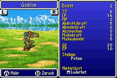 Goblin Monsterfibel FFV GBA
