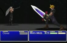 Cloud versus Sephiroth letzter Kampf
