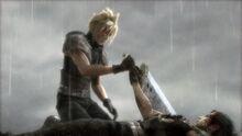 Zack übergibt sein Meisterschwert