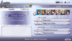 Assist-Menü Dissidia 012