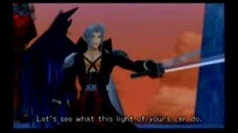 Kingdom Hearts 2 - Cloud vs Sephiroth (English)