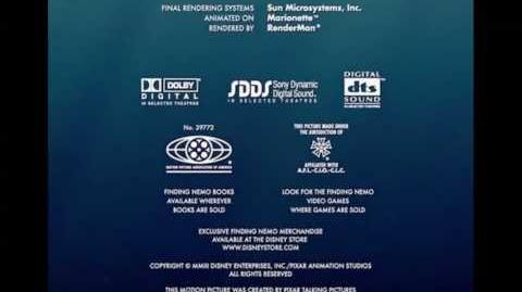 Finding Nemo credits surprise!