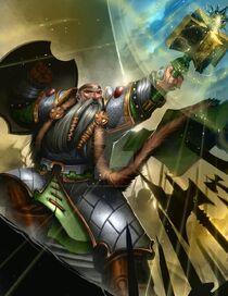 Budran the dwarf warrior priest by brianfajardo-d5r57vw