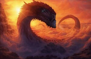 Giant-dragon-sky-clouds-sunset-long-tail-fantasy-4774-resized