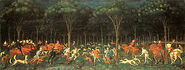 400px-Hunt in the forest by paolo uccello