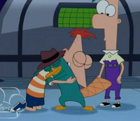 Phineas hugs perry