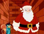 Perry and Santa