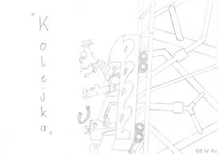 ''Kolejka'' - rysunek