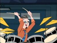 Sherman on the drums